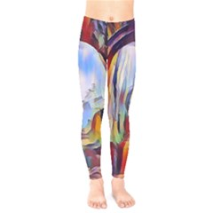 Abstract Tunnel Kids  Legging by 8fugoso