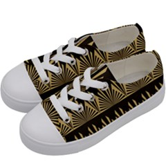 Art Deco Kids  Low Top Canvas Sneakers by 8fugoso