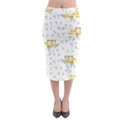 Winter Pattern 7 Midi Pencil Skirt by tarastyle