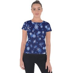 Winter Pattern 8 Short Sleeve Sports Top