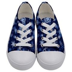 Winter Pattern 8 Kids  Low Top Canvas Sneakers