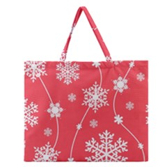 Winter Pattern 9 Zipper Large Tote Bag by tarastyle