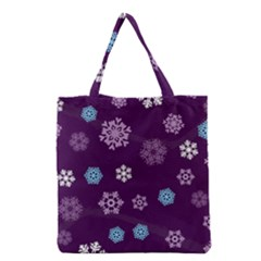 Winter Pattern 10 Grocery Tote Bag by tarastyle
