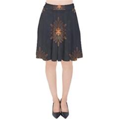 Winter Pattern 11 Velvet High Waist Skirt by tarastyle