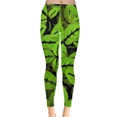Nature Print Pattern Leggings  by dflcprints