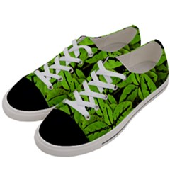 Nature Print Pattern Women s Low Top Canvas Sneakers by dflcprints