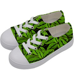 Nature Print Pattern Kids  Low Top Canvas Sneakers by dflcprints
