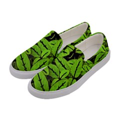 Nature Print Pattern Women s Canvas Slip Ons by dflcprints