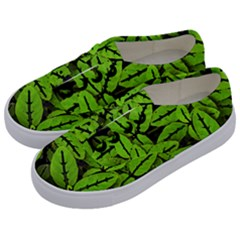 Nature Print Pattern Kids  Classic Low Top Sneakers by dflcprints