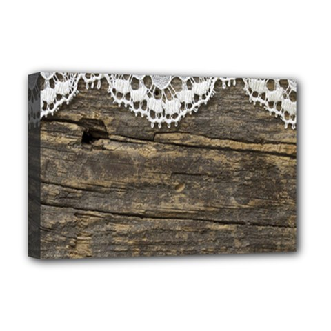 Shabbychicwoodwall Deluxe Canvas 18  X 12   by Love888