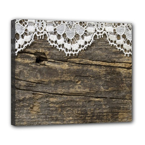Shabbychicwoodwall Deluxe Canvas 24  X 20   by 8fugoso