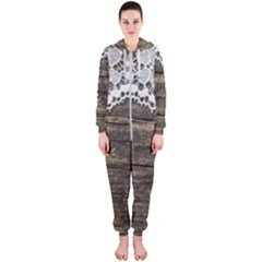 Shabbychicwoodwall Hooded Jumpsuit (ladies)  by 8fugoso