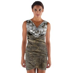 Shabbychicwoodwall Wrap Front Bodycon Dress
