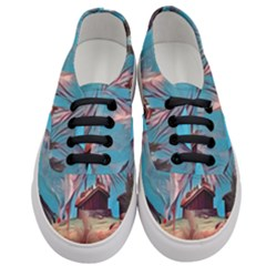 Modern Norway Painting Women s Classic Low Top Sneakers
