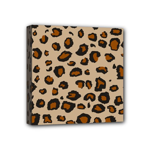Leopard Print Mini Canvas 4  X 4  by TRENDYcouture