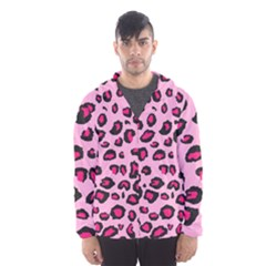 Pink Leopard Hooded Wind Breaker (men) by TRENDYcouture