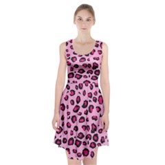 Pink Leopard Racerback Midi Dress