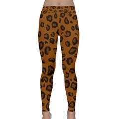 Dark Leopard Classic Yoga Leggings by TRENDYcouture