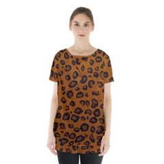 Dark Leopard Skirt Hem Sports Top