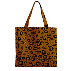 Golden Leopard Zipper Grocery Tote Bag by TRENDYcouture