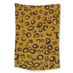 Golden Leopard Large Tapestry