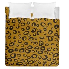 Golden Leopard Duvet Cover Double Side (queen Size) by DreamCanvas