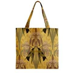 Art Nouveau Zipper Grocery Tote Bag by 8fugoso