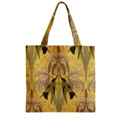 Art Nouveau Zipper Grocery Tote Bag by 8fugoso