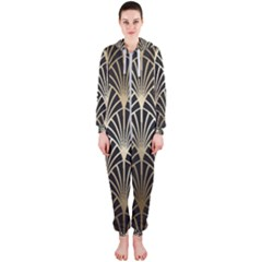 Art Deco Hooded Jumpsuit (ladies)  by 8fugoso