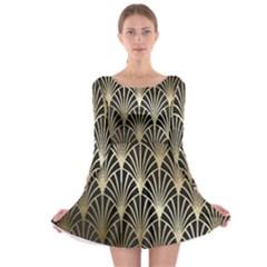 Art Deco Long Sleeve Skater Dress by 8fugoso