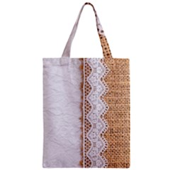 Parchement,lace And Burlap Classic Tote Bag by 8fugoso
