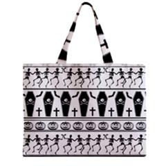 Halloween Pattern Zipper Mini Tote Bag by ValentinaDesign