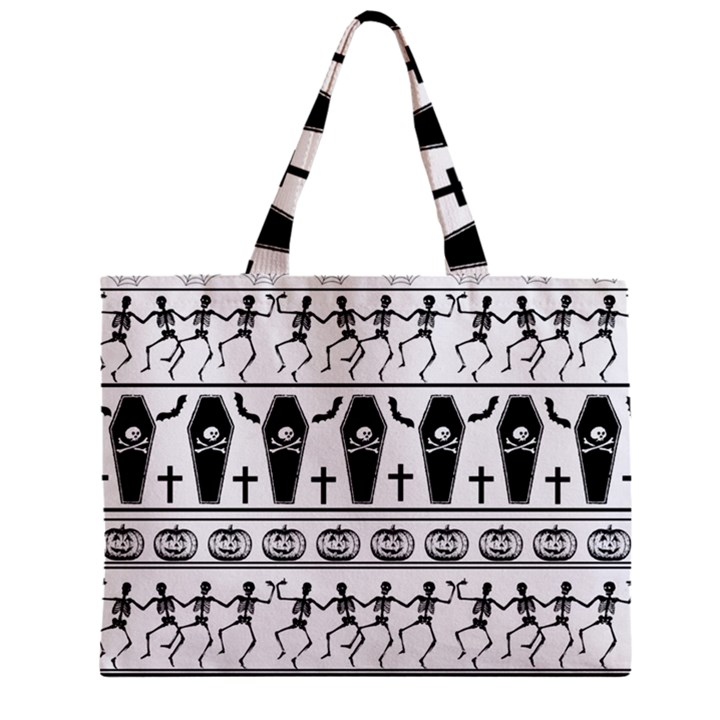 Halloween pattern Zipper Mini Tote Bag