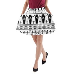 Halloween Pattern A Line Pocket Skirt by ValentinaDesign