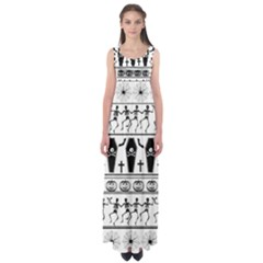 Halloween Pattern Empire Waist Maxi Dress