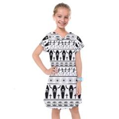 Halloween Pattern Kids  Drop Waist Dress