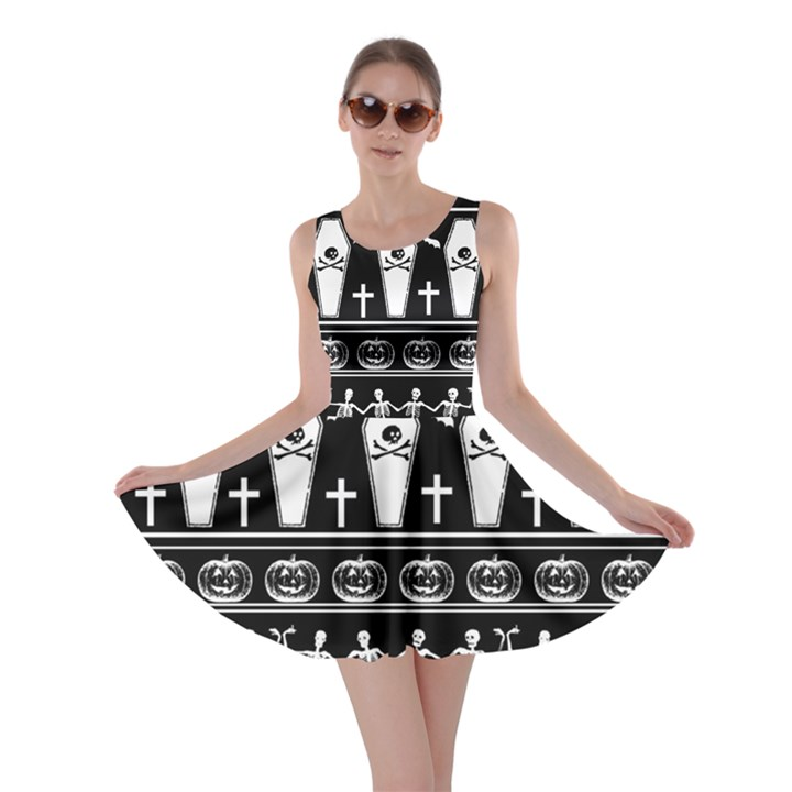Halloween pattern Skater Dress