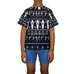 Halloween pattern Kids  Short Sleeve Swimwear