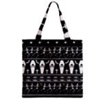 Halloween pattern Zipper Grocery Tote Bag