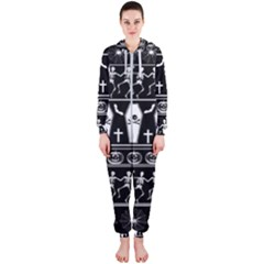 Halloween Pattern Hooded Jumpsuit (ladies)
