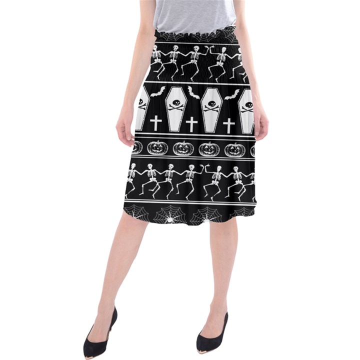 Halloween pattern Midi Beach Skirt