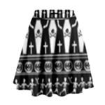 Halloween pattern High Waist Skirt