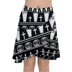 Halloween Pattern Chiffon Wrap