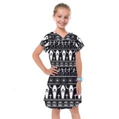 Halloween Pattern Kids  Drop Waist Dress by ValentinaDesign