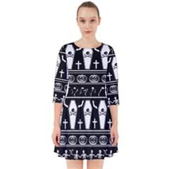Halloween Pattern Smock Dress
