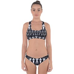 Halloween Pattern Cross Back Hipster Bikini Set