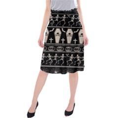 Halloween Pattern Midi Beach Skirt by ValentinaDesign