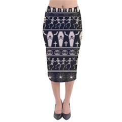 Halloween Pattern Velvet Midi Pencil Skirt by ValentinaDesign