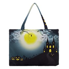 Halloween Landscape Medium Tote Bag by ValentinaDesign