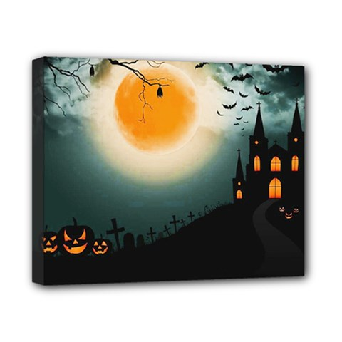 Halloween Landscape Canvas 10  X 8  by ValentinaDesign